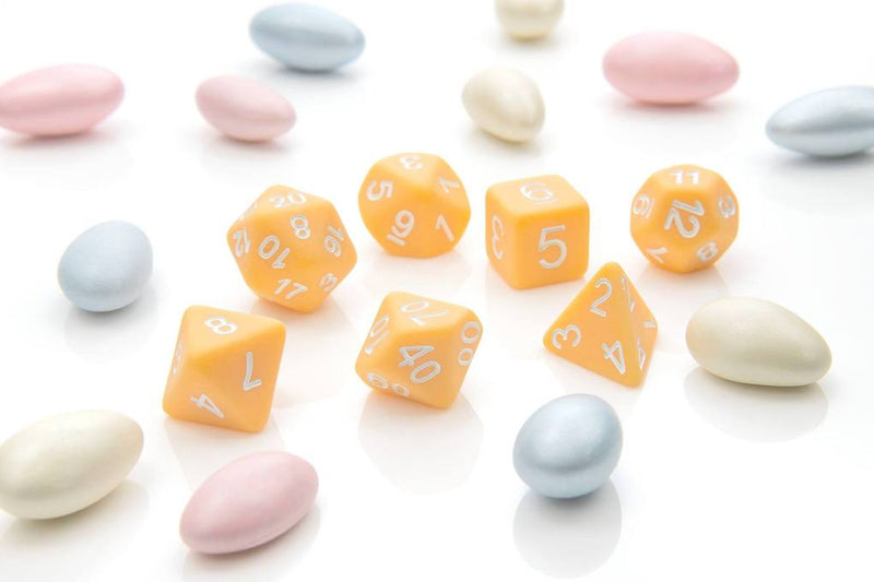 'Pastel Pop' - Peach Polyhedral Dice