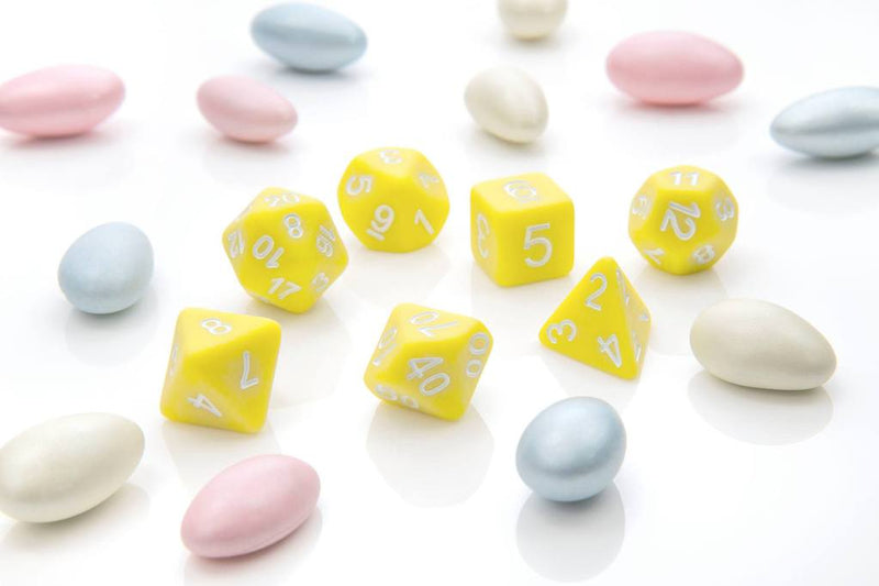 'Pastel Pop' - Yellow Polyhedral Dice