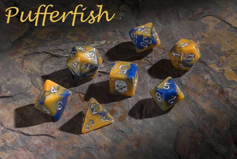 'Spirit of' Deadly Flora & Fauna - Pufferfish Polyhedral Dice
