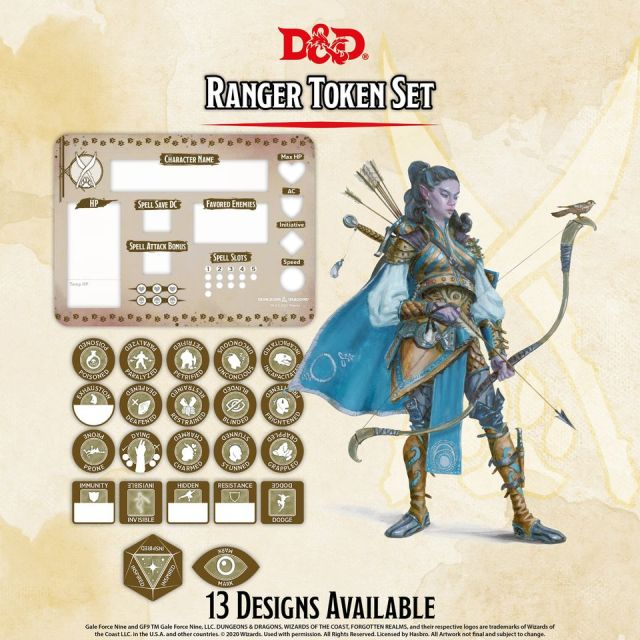 D&D 5th: Token Set - Ranger