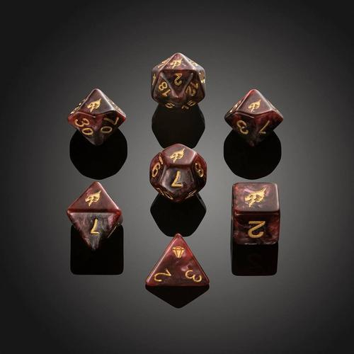 'Spirit of' Desolation - Red Dragon Polyhedral Dice