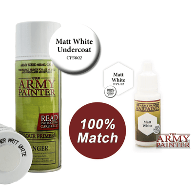 Matt White Acrylic Warpaints