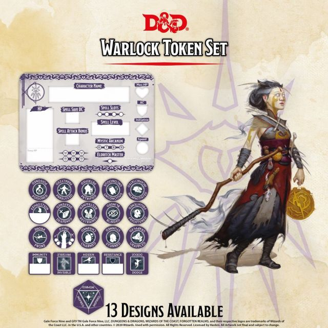 D&D 5th: Token Set - Warlock
