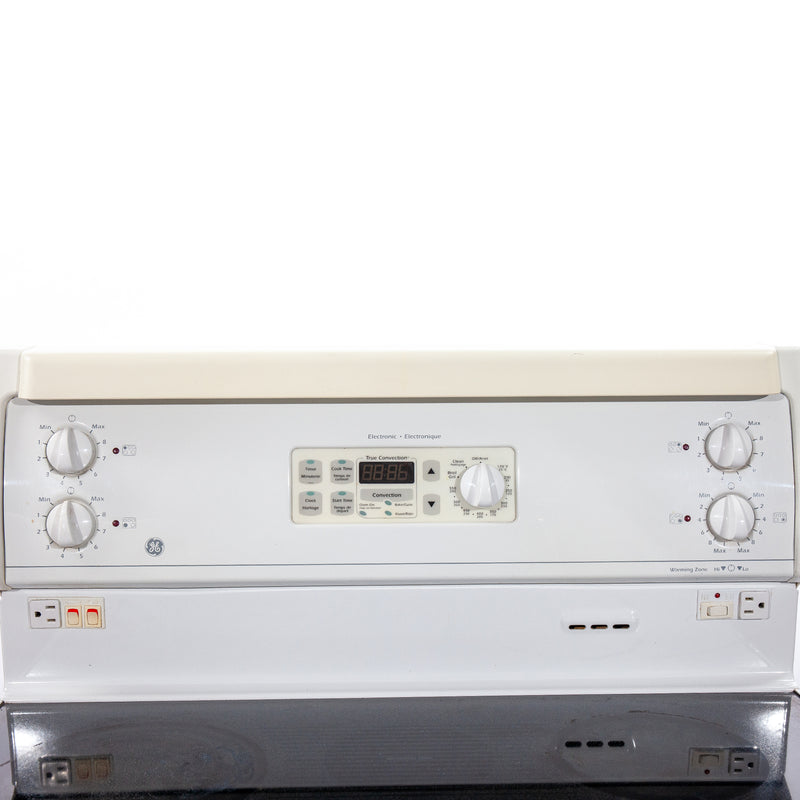 GE 30' Electric Stove GRCR3825ZWW White (3)