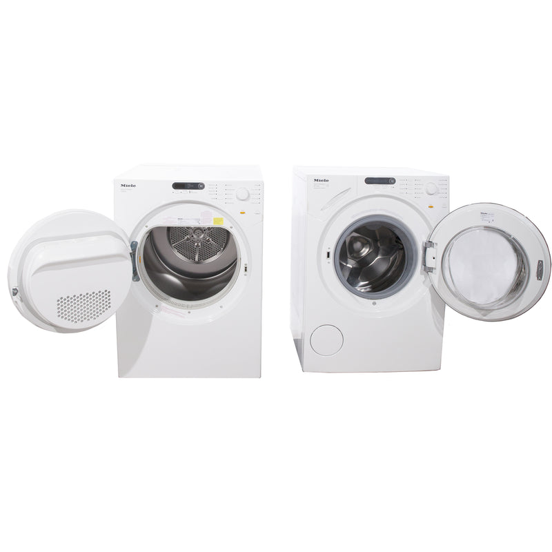 Miele 23.5'' Washer Front Load Washers (Front Load) W1753 and T7634 White (2)