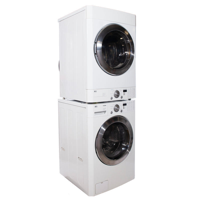 LG 27'' Stackable Laundry Pair Stackable Laundry Pairs WM2496HWM and DLE9577WM White (1)