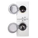 LG 27'' Stackable Laundry Pair Stackable Laundry Pairs WM2496HWM and DLE9577WM White (2)