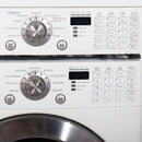 LG 27'' Stackable Laundry Pair Stackable Laundry Pairs WM2496HWM and DLE9577WM White (3)