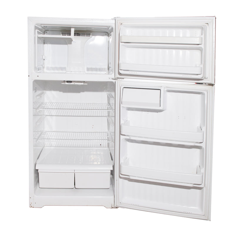 GE 28'' Top Mount Refrigerators GTH16BBSXRWW White (3)
