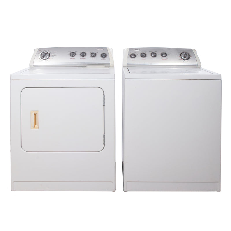 Whirlpool 27'' and 29'' Laundry Pair Washers (Top Load) Laundry Pairs WTW57ESVWO and YWED5700VWO White