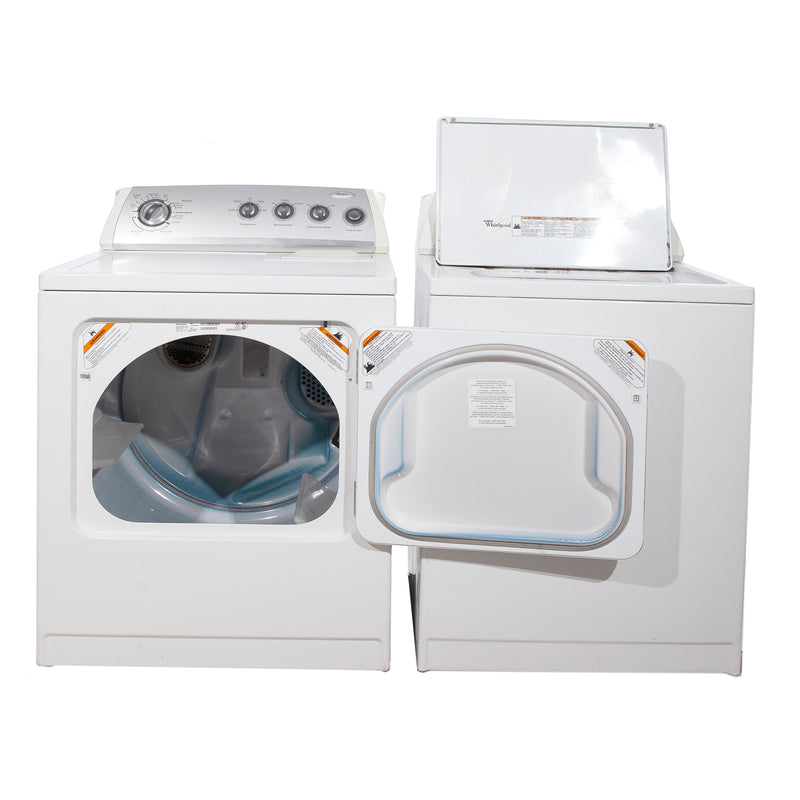 Whirlpool 27'' and 29'' Laundry Pair Washers (Top Load) Laundry Pairs WTW57ESVWO and YWED5700VWO White (1)
