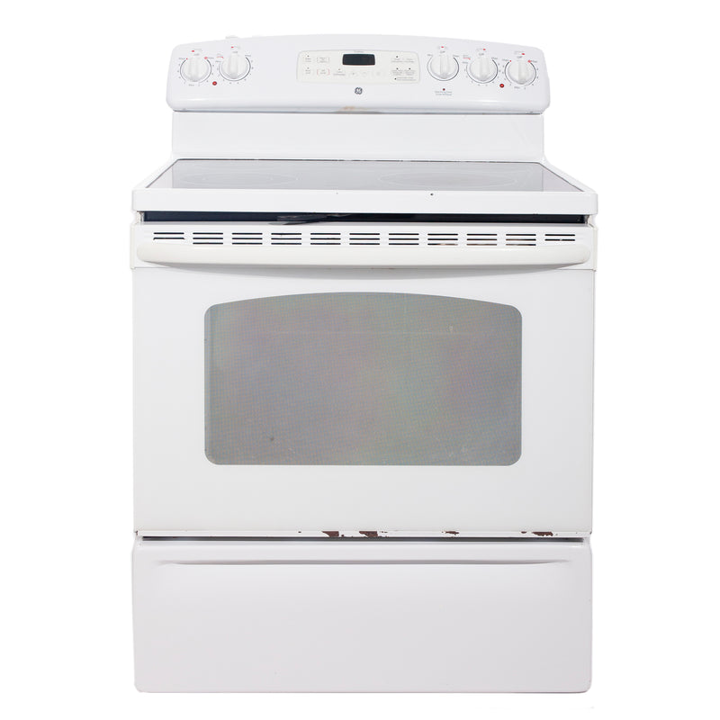 GE 30'' Freestanding Electric Electric Stove JCBP78DP1WW White