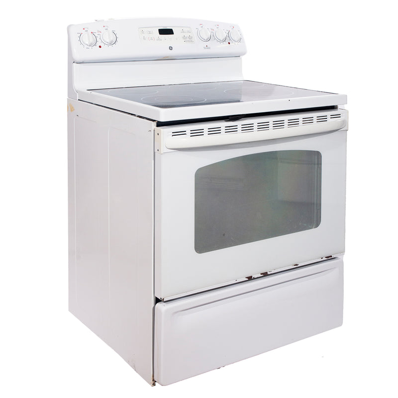 GE 30'' Freestanding Electric Electric Stove JCBP78DP1WW White (1)