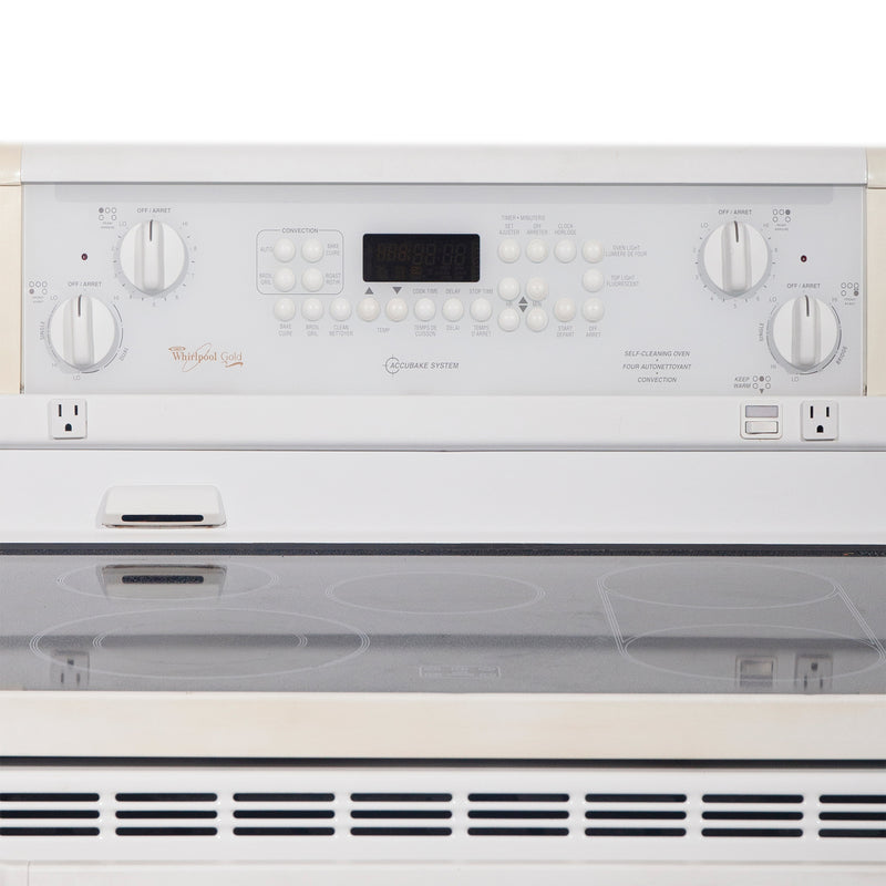 Whirlpool 30'' Electric Stove Electric Stove GJP85800 White (2)