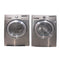 LG 27'' Front Load Stackable Laundry Pairs DLEX2501 V and WM2501HVA Grey