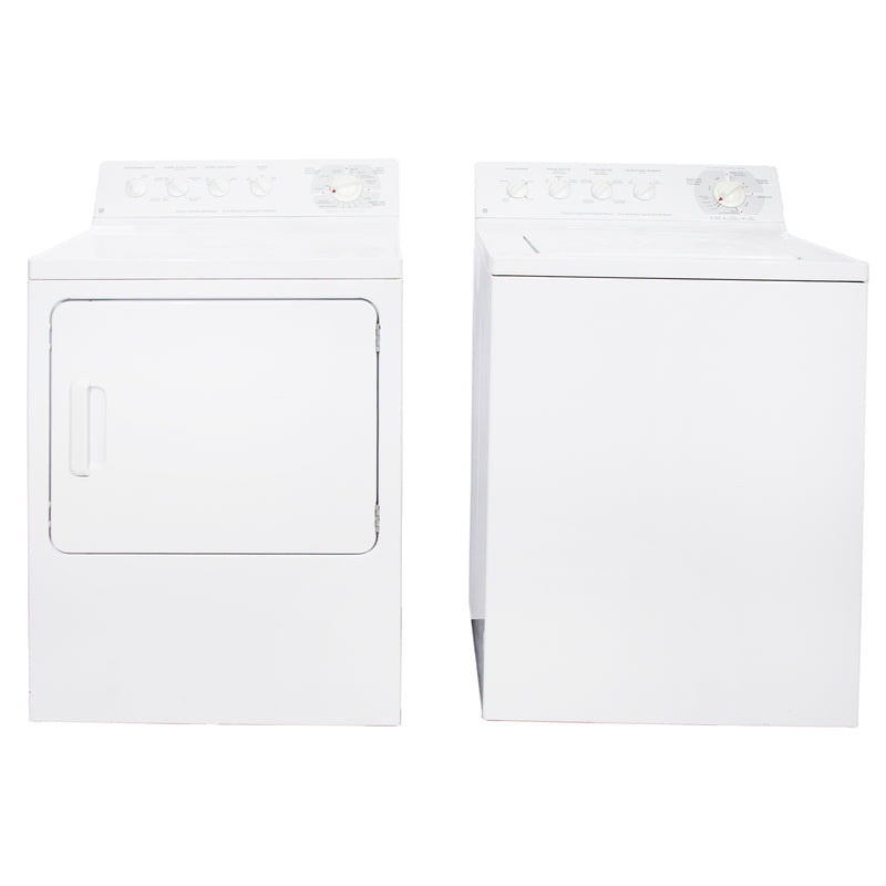 GE 27' Laundry Pair Laundry Pairs PDSR473ET3WW and GWSR3090T6WW white