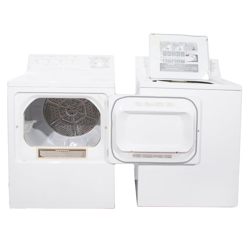GE 27' Laundry Pair Laundry Pairs PDSR473ET3WW and GWSR3090T6WW white (1)