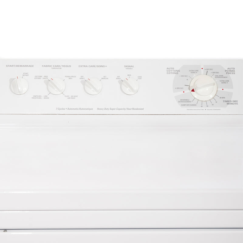 GE 27' Laundry Pair Laundry Pairs PDSR473ET3WW and GWSR3090T6WW white (2)