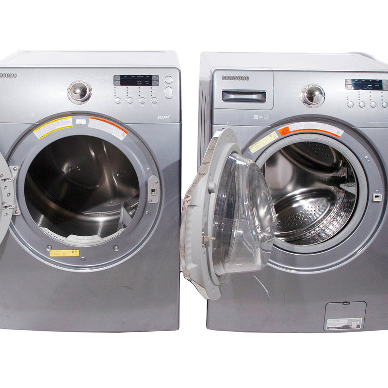 Samsung 27'' Front Load Stackable Laundry Pairs WF340ANG/XAC 05 and DV350AEG/XAC 04 Grey (1)
