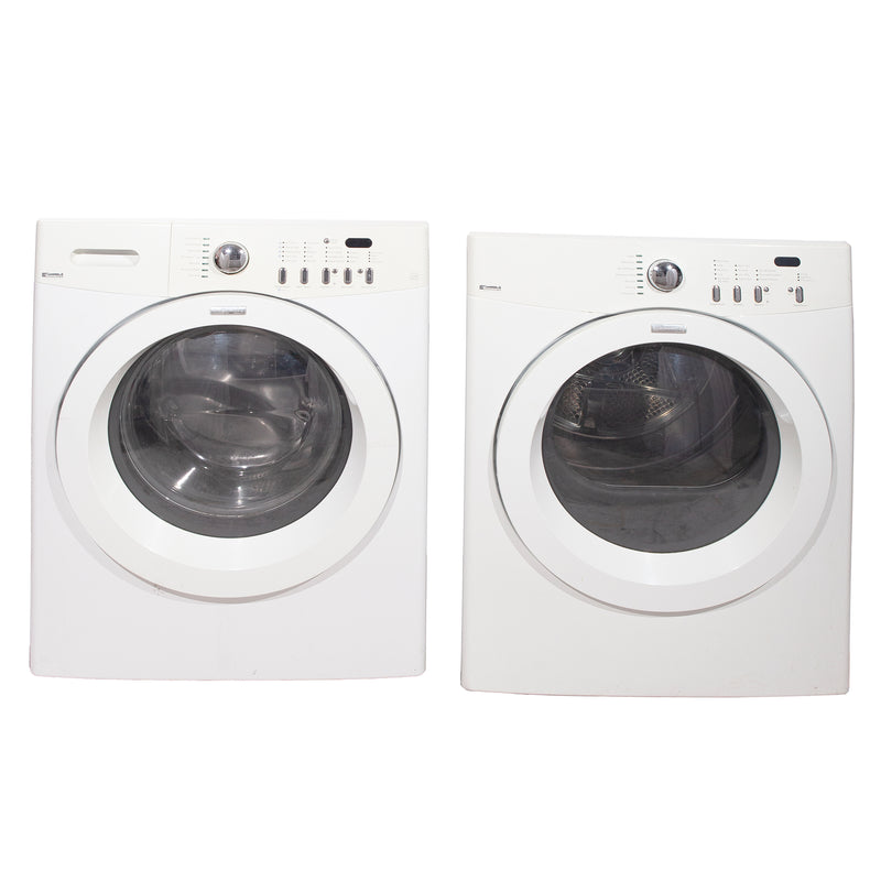Kenmore 27'' Front Load Stackable Laundry Pairs 970-C88992-00 and ATF6000FS0 White