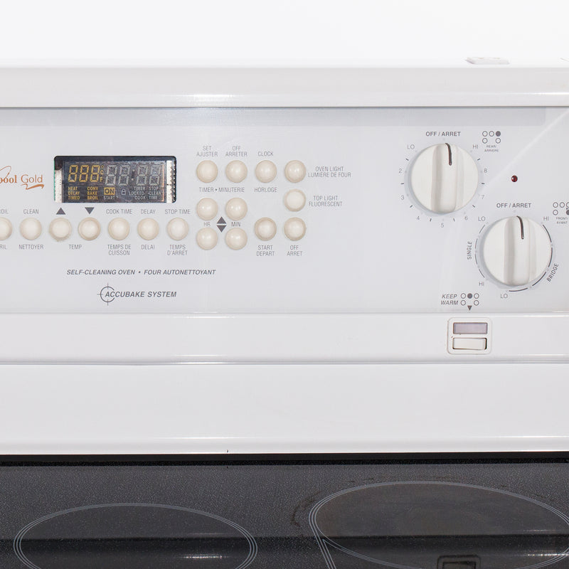 Whirlpool 30' Gold Electric Stove GLP84800 White (2)