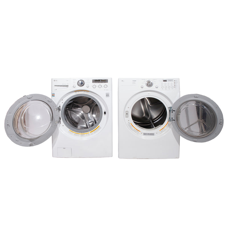 LG 27'' Front Load Stackable Laundry Pairs WM2650HWA and DLE3777W White (1)