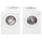 LG 27'' Front Load Laundry Pairs WM1832CW and DLE2532W White