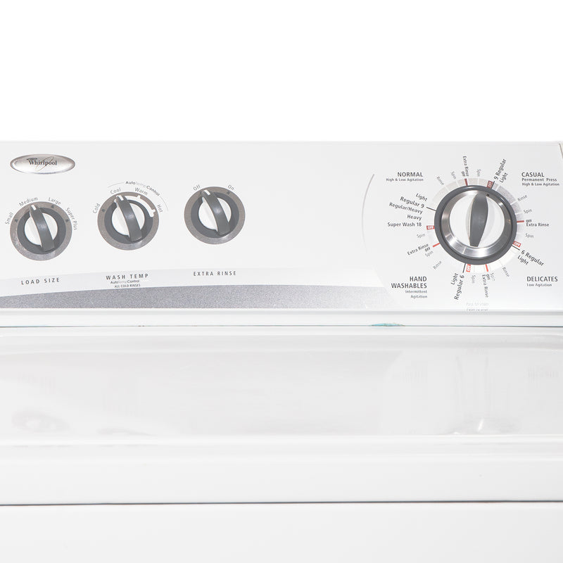 Whirlpool 27'' and 29'' Laundry Pair Laundry Pairs YWED5300SQ0 and WTW5560SQ0 White (2)