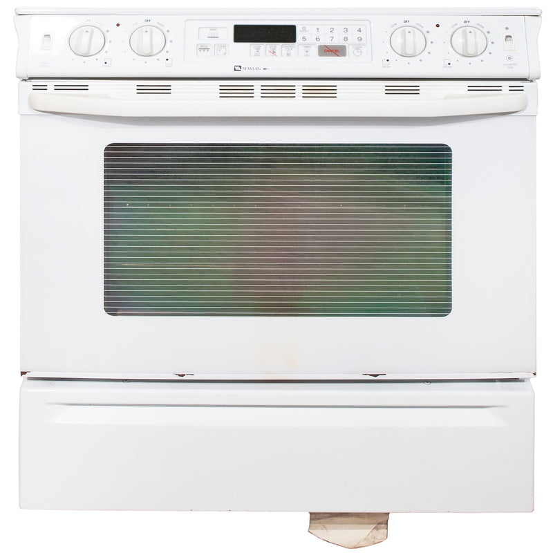 Maytag 30'' Slide In Electric Electric Stove MES5770ACW White