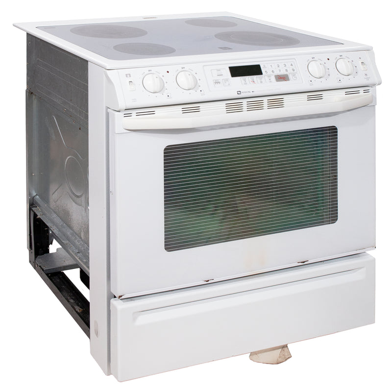 Maytag 30'' Slide In Electric Electric Stove MES5770ACW White (1)