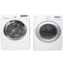 LG 27'' Front Load Stackable Laundry Pairs WM2150HW and DLE3050W White