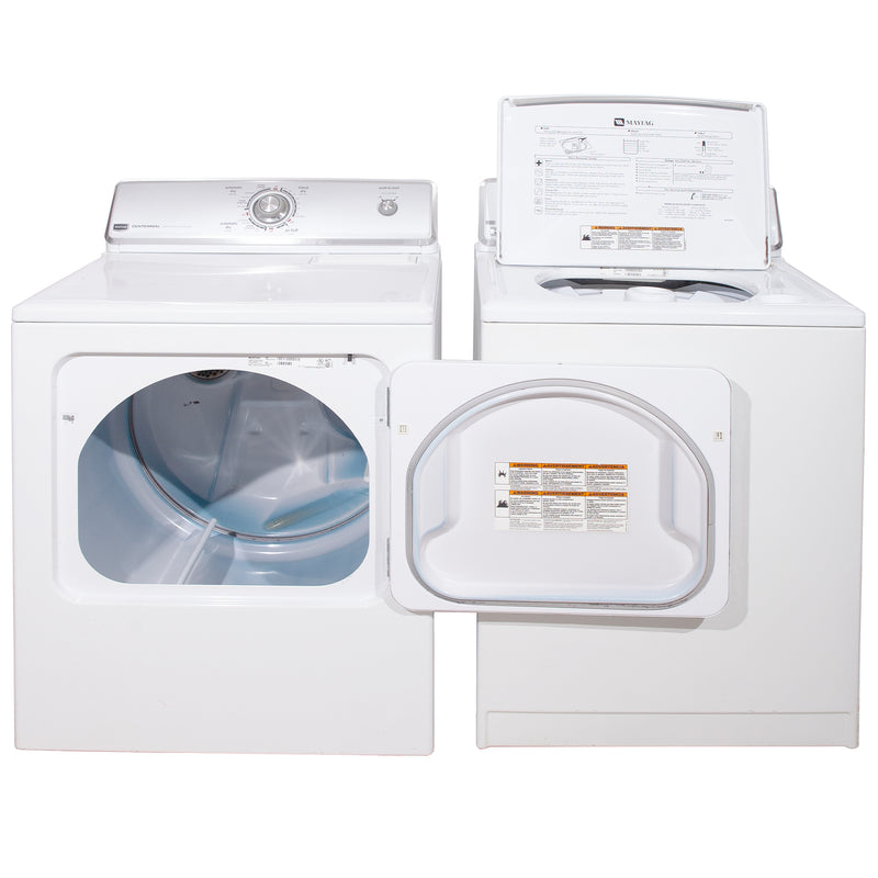 Maytag 27'' and 29'' Laundry Pair Laundry Pairs MTW5740TQ0 and YMEDC200XW1 White (3)