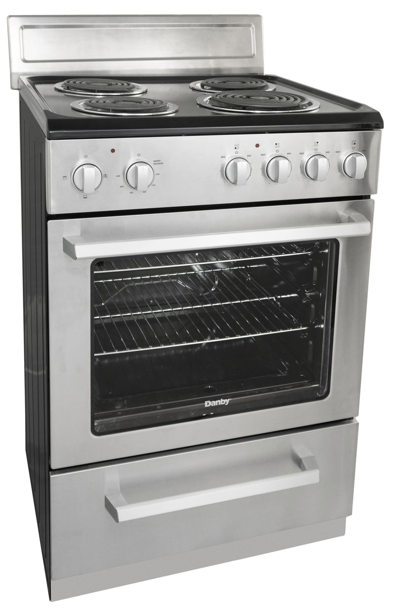 Danby 24' NEW-Open Box Electric Stove DERM240BSSC Stainless Steel (2)
