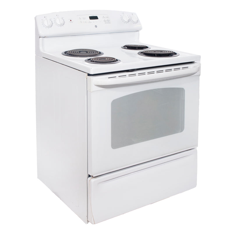 GE 30'' Electric Stove Electric Stove JCBP35D P2WW White (2)