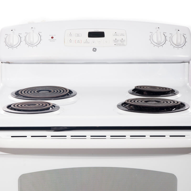 GE 30'' Electric Stove Electric Stove JCBP35D P2WW White (3)