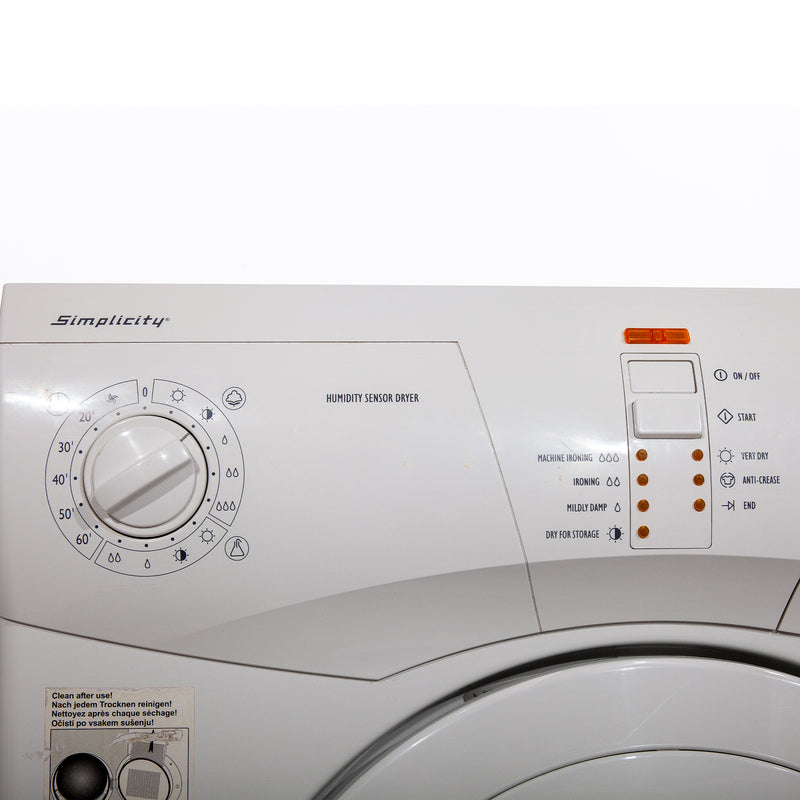 Simplicity 23.625' Simplicity Dryers SCD5505W White (3)