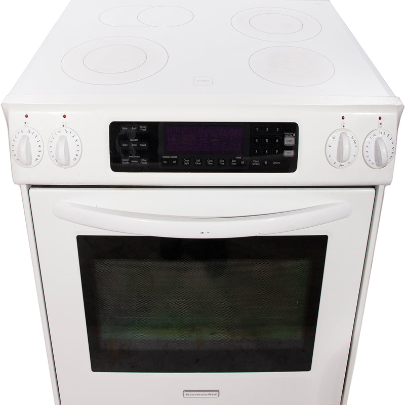 KitchenAid 31' True convection Electric Stove YKESS907SP03 White (3)