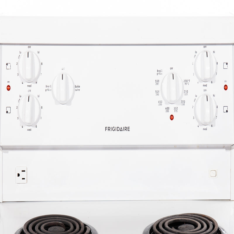 Frigidaire 24' Freestanding Electric Electric Stove CFEF2405LWA White (3)