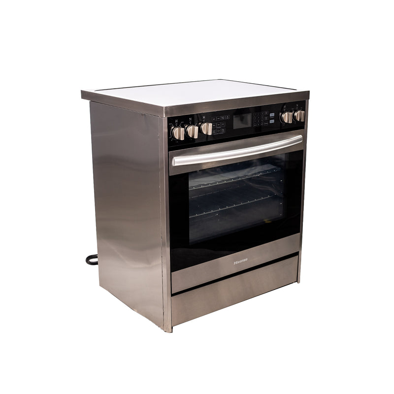 Hisense 30' Electric Stove HER30FSC Stainless steel (1)