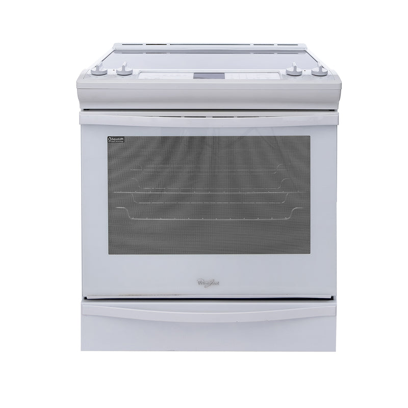 Whirlpool 36.5' Aqualift Electric Stove YWEE730H0DS0 White