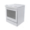 Whirlpool 36.5' Aqualift Electric Stove YWEE730H0DS0 White (2)