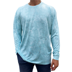 Open image in slideshow, Aqua Camo Bamboo Shirt