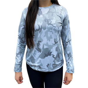 Open image in slideshow, Slate Camo Ladies' Performance Shirt