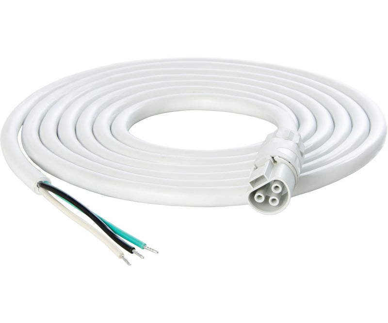 PHOTOBIO X White Cable Harness, 16AWG w/leads, 10'