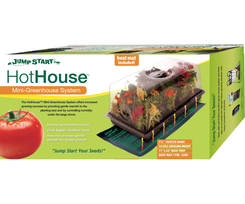 "Jump Start Hot House w/Heat Mat, Tray, 72-Cell Insert, 7.5"" dome"