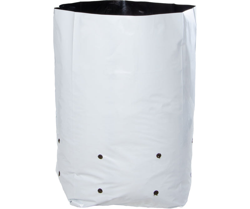 Hydrofarm Black & White Grow Bag, 5 gal (16 packs of 25)