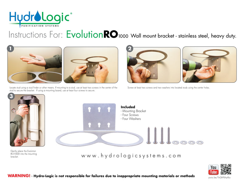 Hydrologic Evolution RO Wall Mount Bracket
