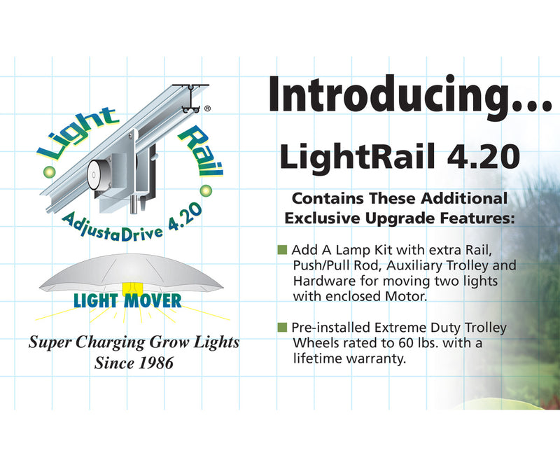LightRail 4.20 AdjustaDrive w/ Add a Lamp Kit + pre-installed Extreme Duty Trolley Wheels
