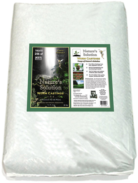 Nature's Solution Organic Worm Castings, 20 lbs