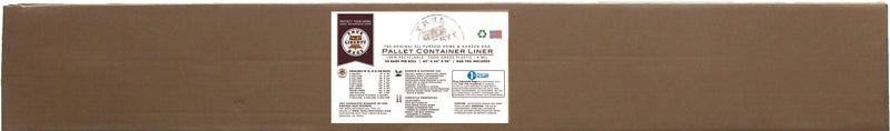 "True Liberty Pallet Container Liner 55"" x 44"" x 90"", 30 Bags/Roll, White"